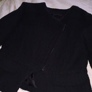 Black cute zipper up blazer